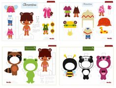 free printable paper dolls. Laminate, add velcro, and voila! Kids are entertained for HOURS. ;)