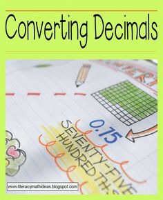 Literacy & Math Ideas: Converting Decimals
