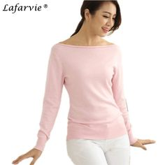 Promotion price Lafarvie Sexy Spring Autumn Cashmere Blended Knitted Sweater Women Tops Full Sleeve Slash Neck Strapless Female Pullover Pull just only $15.02 with free shipping worldwide  #womansweaters Plese click on picture to see our special price for you