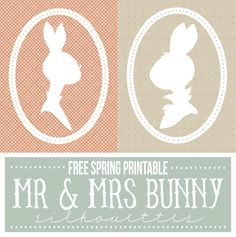 Yes, Easter is over, but we still have all of April to go! So for this month's free printable, you can download these darling 8×10 Mr and Mrs Bunny silhouettes to add just the right touc…