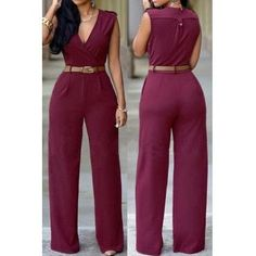 V Neck Jumpsuit One Piece