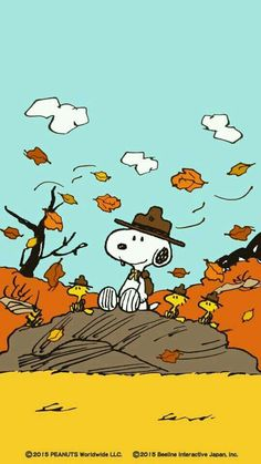 Snoopy and friends on a windy Autumn day.