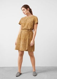Suede dress -  Plus sizes | Violeta by MANGO USA