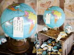 Love this idea.... highlights honeymoon destination & you could include where your guests traveled from to support you.
