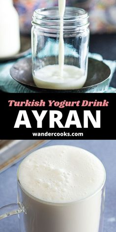 This refreshing drink is an addictive way to rehydrate on a hot summer day. Mixed with sea salt, Ayran is a Turkish yoghurt drink frothed to perfection in seconds and served up icy cold. It pairs perfectly with a hot meal like Karniyarik. Easy Weeknight Meals, Easy Meals, Turkish Yogurt, Vietnamese Iced Coffee, 5 Minute Meals, Fancy Drinks, New Flavour, World Recipes, Sweet Desserts