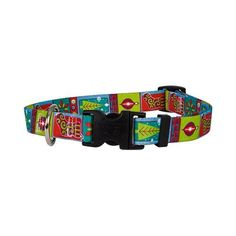 """Retro Christmas Dog Collar - Size Medium 14\"""" to 20\"""" Long - Made In The USA -- Details can be found by clicking on the image."""