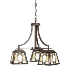 Kichler Lighting 66121 3-Light Denman Art Glass and Stone Downlight Chandelier, Olde Bronze Kichler Lighting http://www.amazon.com/dp/B0032UUVTA/ref=cm_sw_r_pi_dp_e8DTub1JGQKDG
