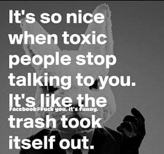 shoo shoo, toxic you!