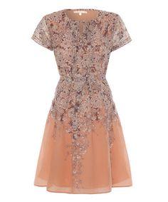 Look at this #zulilyfind! Pink Chrysanthemum Pleated A-Line Dress #zulilyfinds