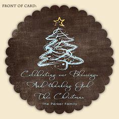 Elegant Blessings Christian Christmas Card