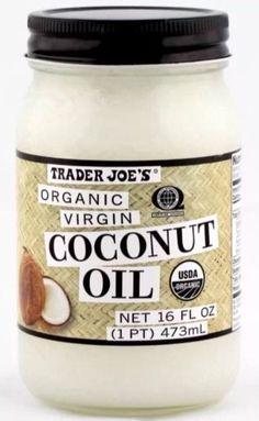 $14.99 - Trader Joe's Organic Virgin Cold-Pressed & Unrefined Coconut Oil 16 Oz Jar #ebay #Home & Garden