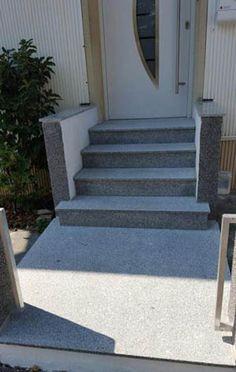 Granittreppen (Bild: Padang Cristallo) können sowohl im Innenbereich, als auch im Außenbereich verwendet werden.   http://www.silestone-deutschland.com/granittreppen-hochwertige-granittreppen
