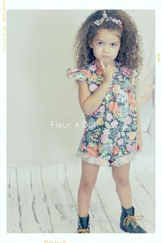 Last Sunny Day Ruffle Sleeve Romper Fleur + Dot Autumn Winter 13 #fleuranddot #kids #fashion