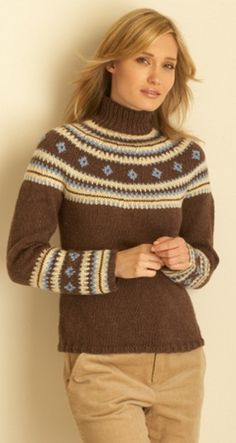 Fair Isle Yoke Pullover in Bernat Super Value. Discover more Patterns by Bernat at LoveKnitting. The world& largest range of knitting supplies - we stock patterns, yarn, needles and books from all of your favourite brands. Fair Isle Knitting Patterns, Sweater Knitting Patterns, Knit Patterns, Free Knitting, Motif Fair Isle, Fair Isle Pattern, Fair Isle Pullover, Knitting Supplies, Lana