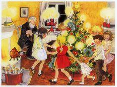 Ilustraciones de Ilon Wikland, Ingrid Vang Nyman y Harald Wiberg para la obra Historias de Navidad, de Astrid Lindgren.