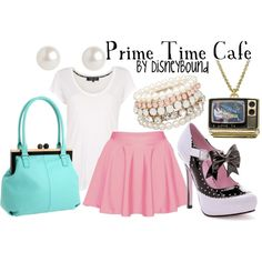 The Prime time Cafe Collection found on lalakay.polyvore.com is another favorite of mine. It is also another fun restaurant to go to in the MGM park. It is set in the 50's diner theme. When we were there they made my friend stand in the corner because he didn't eat all his vegetables.