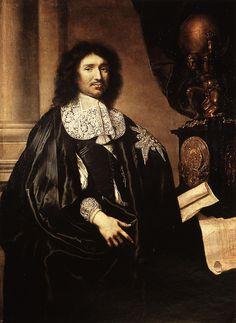 Claude Lefèbvre (1632-1675), Portrait de Colbert en tenue de l'ordre du Saint Esprit 1666, Versailles
