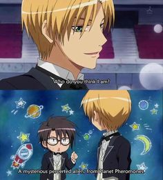 Usui - a mysterious perverted alien from planet Pheromones Yup definitely a straight answer....love you misaki..