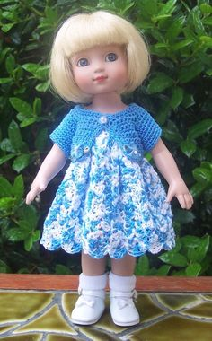 Handmade Crocheted Dress & Jacket for Ann Estelle, Sophie, Trixie, Patsy. SOLD for $15.49 on 6/21/15.