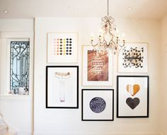 Art collection (love the different color frames) | via sfgirlbybay
