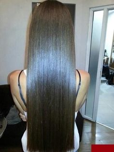 Sexy Long Hair Tips! http://longhairtips.org/ To straighten hair without heat, just mix a cup of water with 2 tablespoons of BROWN sugar, pour it into a spray bottle, then spray into damp hair and let air dry.