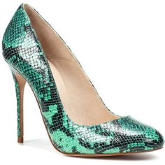 Snake Skin Court Shoe ($40) found on Polyvore