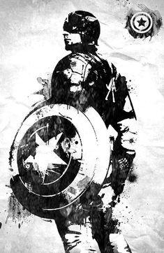 Captain America Marvel art paint by antony lottin, via Behance Marvel Captain America, Ms Marvel, Marvel Dc Comics, Marvel Art, Marvel Heroes, Marvel Avengers, Captain America Tattoo, Captain America Painting, Captain America Sketch