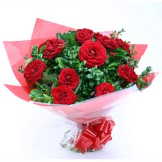 Surprise your beloved with A spellbinding bunch of beautiful flowers. Get love starter flowers delivered for your anniversary today. This designer bunch of 12 red roses wrapped with red paper and ribbon with lots of green fillers. Buy now! Buy Flowers Online, Online Flower Shop, Online Flower Delivery, Same Day Flower Delivery, Lovely Flowers Wallpaper, Beautiful Rose Flowers, Red Rose Flower, Red Roses, Rose Flower Arrangements
