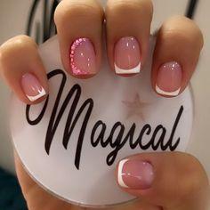 Pretty Nail Colors, Pretty Nails, Fabulous Nails, Gorgeous Nails, French Nails, Shellac Nails, Manicure, Crazy Nail Designs, Simple Acrylic Nails
