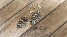 Silver Leaves with Black Distressed Shadowed by LittleMsRetro, $8.00
