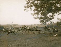 vintagesportspictures:   Gold Cup Race at Warrenton, Va (undated) Fauquier County