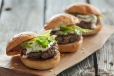 No need to wait until grilling season to make these delicious burgers. As an alternative, pan-fry them in a bit of olive oil over medium heat until cooked to your desired doneness. Serve the burgers on whole wheat rolls with lettuce and tomatoes, if you like.
