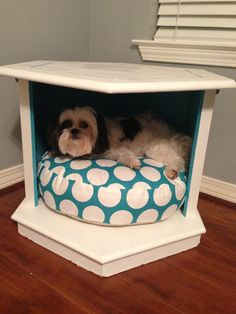 Repurposed And Refinished End Table Dog Beds | DIY Home Decor Ideas |  Pinterest | Dog Beds, Repurposed And Dog