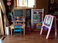 Kids art center at home