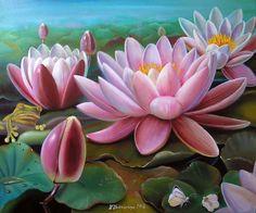 Painting (Picture) : Lilies.. Author Valentina Valevskaya