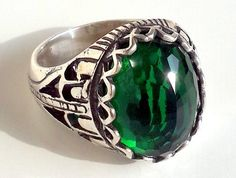 925 Sterling Silver Men's Ring with Totally by lunasilvershop