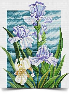 VK is the largest European social network with more than 100 million active users. Cross Stitch Love, Cross Stitch Flowers, Cross Stitch Patterns, Hand Work Embroidery, Embroidery Stitches, Embroidery Patterns, Cross Stitch Christmas Ornaments, Iris Flowers, Cross Stitching