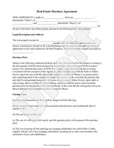sales-agreement-template-free- ... - free real estate purchase ...