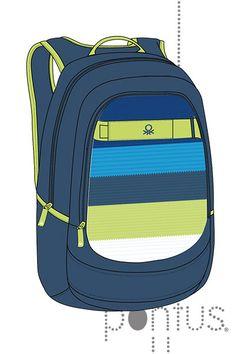 Mochila escolar Benetton   JB