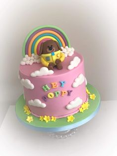 Poppy's 2nd Birthday Cake. Hey Duggee 💗 Girls 2nd Birthday Cake, Hubby Birthday, Boy Birthday Parties, Birthday Ideas, Baby First Cake, Birhday Cake, Girly Cakes, Novelty Cakes, Cake Servings