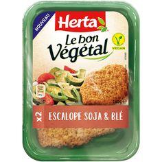 HERTA LE BON VEGETAL Escalope Soja et Blé 180g Herta, Convenience Food, Products, Fiber Sources, Prefab Cottages, Beauty Products
