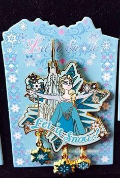 """DisneyLand Paris DLRP Frozen """"Let It Snow"""" Event Elsa Pin LE 700"""