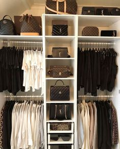 Walk In Closet Ideas - Do you need to whip your little walk-in closet into shape? You will certainly enjoy these 20 incredible tiny walk-in closet ideas as well as transformations for some . Master Closet, Closet Bedroom, Walk In Closet, Diy Bedroom, Interior Design Career, Decor Interior Design, Room Interior, White Wardrobe, Closet Designs