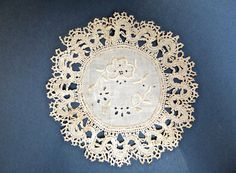 Antique Doily embroidery with Cluny lace