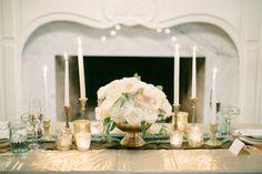 2014 Wedding Trends | Metallic | Metallic Wedding Table Inspiration + Mint Color Accents