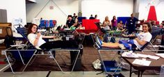 Donating blood for the first time!
