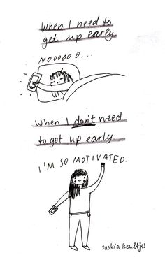 saskiakeultjes:  Today: the confused early bird a mood drawing from this morning by Saskia Keultjes facebook