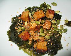 Ensalada de  alga wakame y tofu