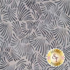Bali Chop 2642-597 Petals December By Hoffman Batiks: Bali Chop is a batik collection from Hoffman Fabrics. This fabric features gray petals on a gray background.