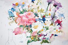 Charles Reid Demo | fantastic Flower-based still life begins to emerge.